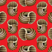 Snail background pattern — Stock Vector
