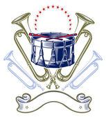 Music jazz band emblem — Stock Vector