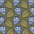 Hop leaves pattern — Stockvectorbeeld
