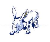 Cartoon donkey smile — Stock Vector