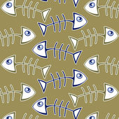Fish bone pattern — Stock Vector