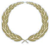 Leaves wreath vintage frame — Stock Vector
