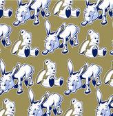 Donkey bear background — Stock Vector