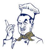 Cook man smile — Stock Vector