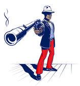 Cartoon illustration of mobster — Stock Vector