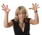 Cranky Woman in Menopause — Stock Photo