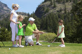 Family Golf Lesson — Stock Photo