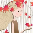 Cute autumn illustration — Stock Vector #6975989