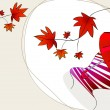 Cute autumn illustration — Imagen vectorial