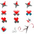 Set of abstract medical symbols — Imagens vectoriais em stock