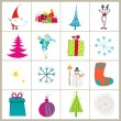 Set of cute Christmas illustrations — Stock Vector #6976284