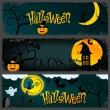Halloween banner set - Stock vektor