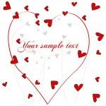 Cute doodle floral romantic background — Stock Vector