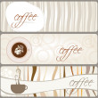 Set of coffee themed banners — Stock Vector