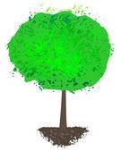 Grunge tree silhouette — Stock Vector