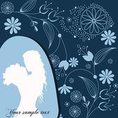 όμορφη floral φόντο ρομαντικό — Διανυσματικό Αρχείο