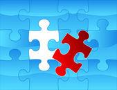 Elegant web2 style puzzle background — Stock Vector