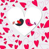 Cute birds singing — Stock Vector