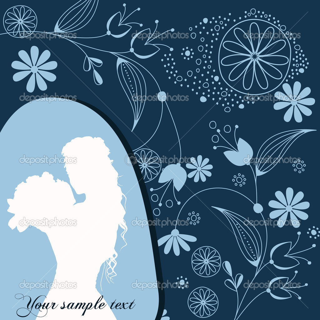 Vector beautiful floral romantic background — Stok Vektör #6976751