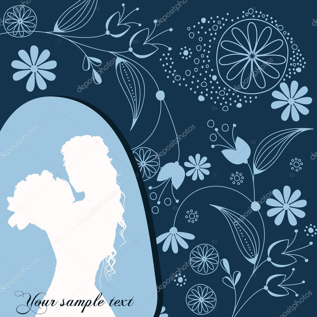 Vector beautiful floral romantic background   #6976751