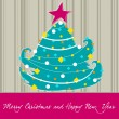 Cute Christmas greeting card — Stockvectorbeeld