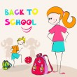 Cute back to school illustration — Stock Vector #6995773