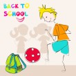 Stock Vector: Cute back to school illustration