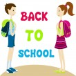 Cute back to school illustration — Stock Vector #6995840