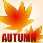 Elegant autumn illustration — Stock Vector