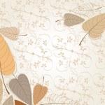 Elegant autumn leaves illustration — Stock Vector