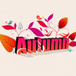 Stock Vector: Cute autumn illustration