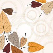 Elegant autumn leaves illustration — Stock Vector
