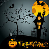 Cute Halloween illustration — Vector de stock