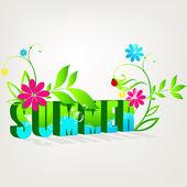 Beautiful summer illustration — Stock Vector