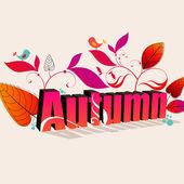 Illustration automne mignonne — Vecteur