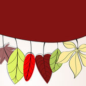 Elegant autumn leaves illustration — Stockvector