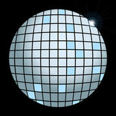 Vector silver disco globe — Stock Vector