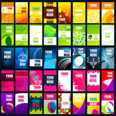 Verzameling van vector visitekaartjes — Stockvector