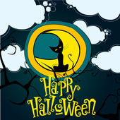 Cute Halloween illustration — Stock Vector