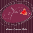 Beautiful floral romantic background - Imagen vectorial
