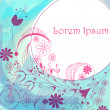 Beautiful floral background - Imagen vectorial