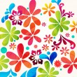 Beautiful floral background — Stok Vektör