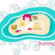 Stock Vector: Cute summer girl