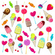 Cute retro candies background — Stockvector #7091554