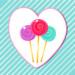 Cute retro lollipops — Stock Vector