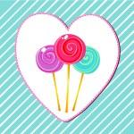 Cute retro lollipops — Stock Vector