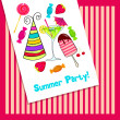 Cute summer party — Stock Vector