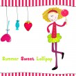 Cute summer girl — Stock Vector #7091576