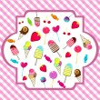 Cute retro candies background — Stock Vector #7091604