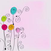 Bellissimo sfondo romantico floreale — Vettoriale Stock